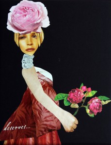collage-s-0040pink rose hat woman pregnant holding roses