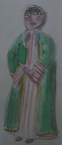 woman Rhodes clothes green