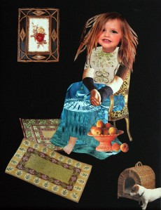 collage-s-0027messy haired chid with peaches and little dog with woven house